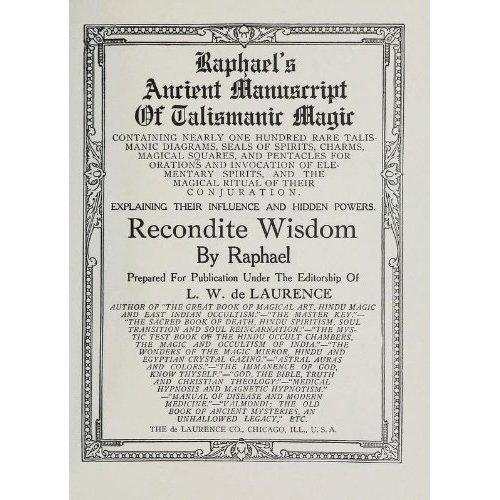 Raphael's Ancient Manuscript of Talismanic Magic- Raphael